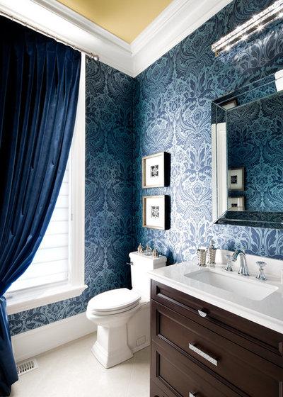 Traditional Powder Room by Jane Lockhart Interior Design