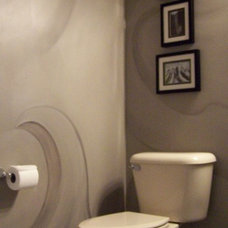 Eclectic Powder Room Janice L.Turner