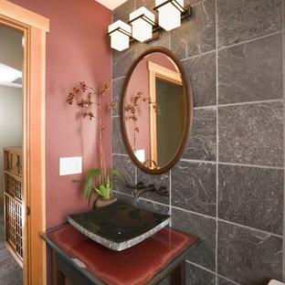 Imagen de aseo asiático con lavabo sobreencimera