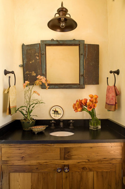 Traditional Powder Room by JBM DESIGNS LLC