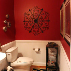 Eclectic Powder Room by Spendalla Home Styling