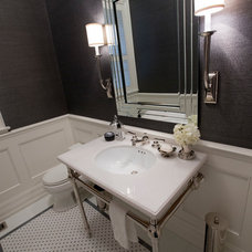 Contemporary Powder Room by Jennifer Backstein Interiors