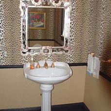 Traditional Powder Room by Jessica Hall Associates