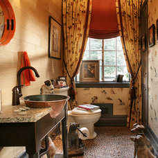 Eclectic Powder Room by PARISI Interiors, LLC