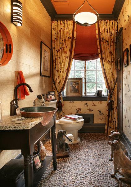 Eclectic Powder Room by PARISI Interiors, LLC
