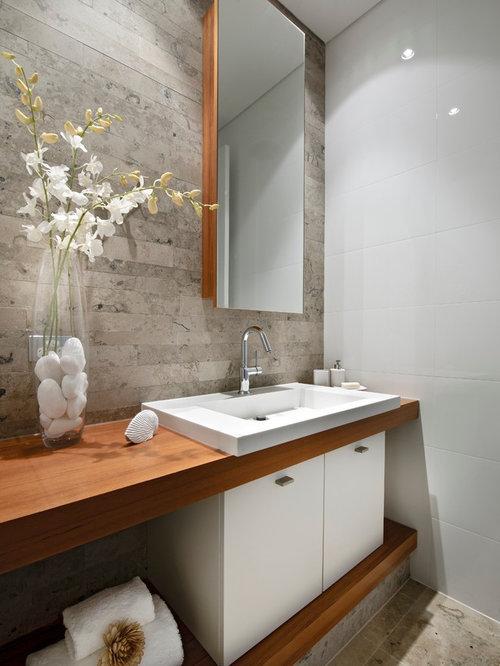 100 Cloakroom With Limestone Flooring Design Ideas