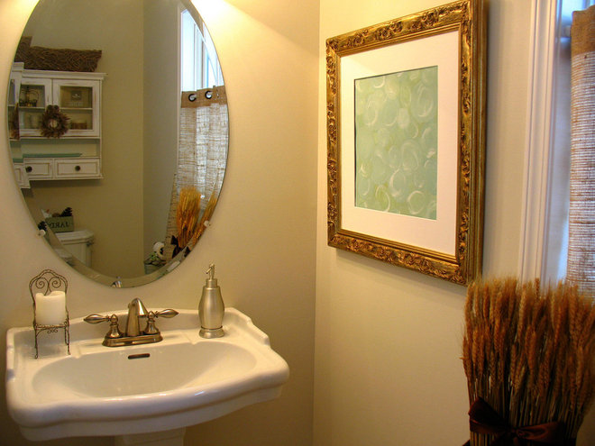 Traditional Powder Room by Just a Girl