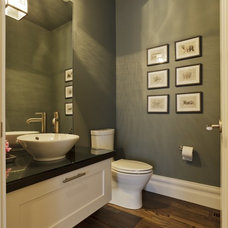 Transitional Powder Room by A Collaborative Design Group
