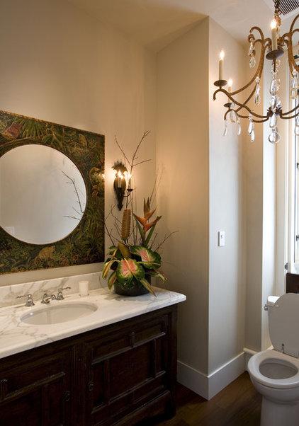Tropical Powder Room by Sutton Suzuki Architects
