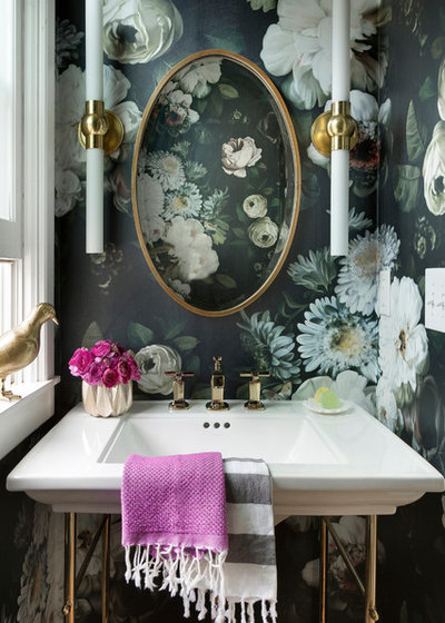 Transitional Cloakroom by Clairmont Design Build LLC
