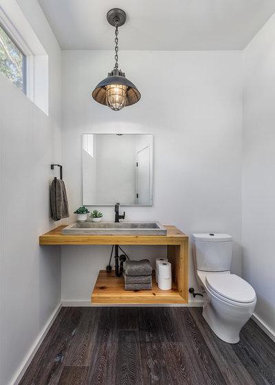 Rustic Powder Room by Amy Emery Interior Design