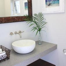Tropical Powder Room by Ashley Cole Design