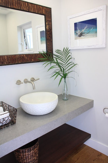 Tropical Powder Room by Ashley Cole Design