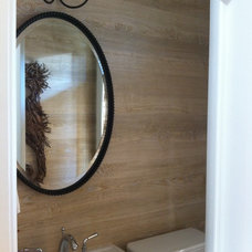 Beach Style Powder Room by Margaret Donaldson Interiors
