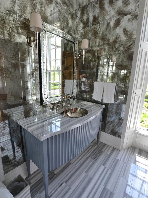 Bagno Vittoriano Con Piastrelle A Specchio Foto Idee