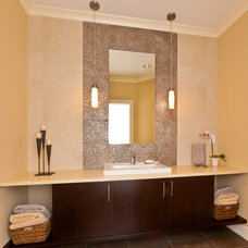 Contemporary Powder Room by collaborative interiors
