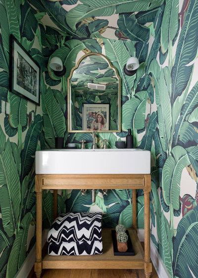 Contemporain Toilettes by Sandra Fox Interiors