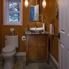 Contemporary Powder Room by Fisher Group LLC