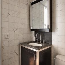 Modern Powder Room by Kitchen Designs by Ken Kelly, Inc. (CKD, CBD, CR)