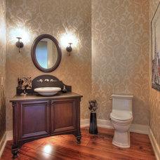 Traditional Powder Room by Black & White Designs