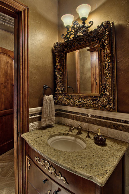 Traditional Powder Room by Bella Villa Design Studio
