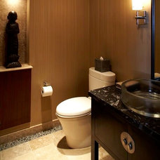 Asian Powder Room by Knudson Interiors
