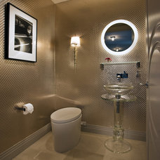 Contemporary Powder Room by Knudson Interiors