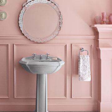 Kohler Portrait Pedestal & Antique Wide-spread Faucet