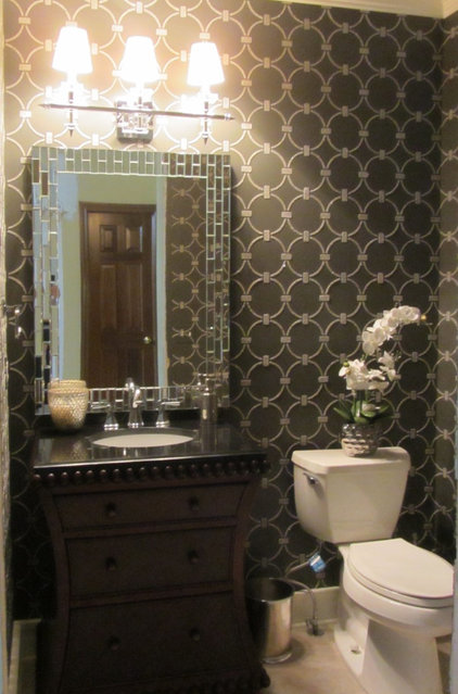 Contemporary Powder Room by Kroll Kreations