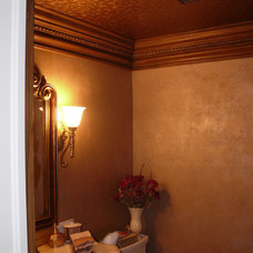 Traditional Powder Room by Kroll Kreations