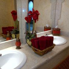 Traditional Powder Room by Blackett Designs LLC