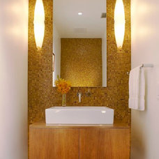 Modern Powder Room by Minardos Group