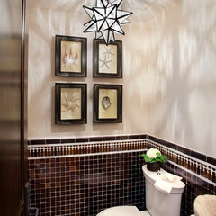 traditional powder room by Tiffany Farha Design