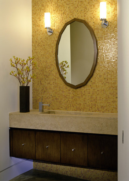 Modern Powder Room by Tommy Chambers Interiors, Inc.