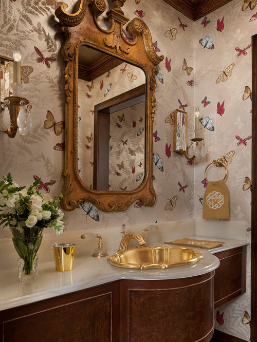 Powder Room Design Ideas contemporary powder room with promenade 275 pedestal bathroom sink by toto concer wall mirror Traditional Powder Room Design Ideas Remodels Photos