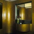 Urban Townhome Powder Room Contemporary Powder Room