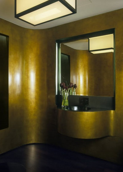 Modern Powder Room by Incorporated