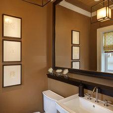 Traditional Powder Room by Leslie Dohr Interior Design LLC