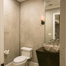 Transitional Powder Room by Kitchen & Bath Cottage