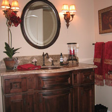 Traditional Powder Room by Hunter Construction Inc
