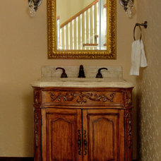 Traditional Powder Room by Aulik Design Build