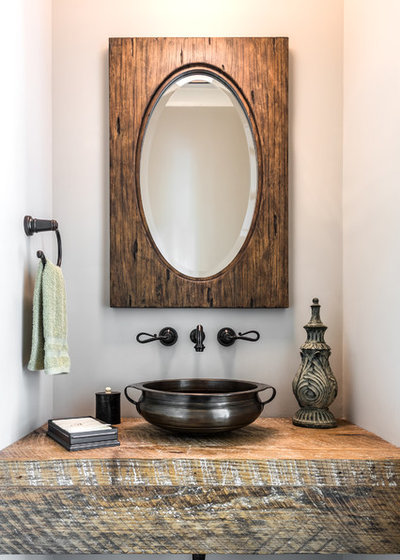 Beach Style Powder Room by Dillard-Jones Builders, LLC