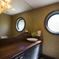 Contemporary Powder Room by Shane D. Inman