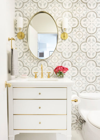 Transitional Powder Room by Dual Concept Design