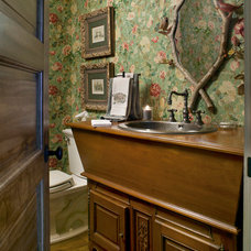 Traditional Powder Room by Kathryn Long, ASID