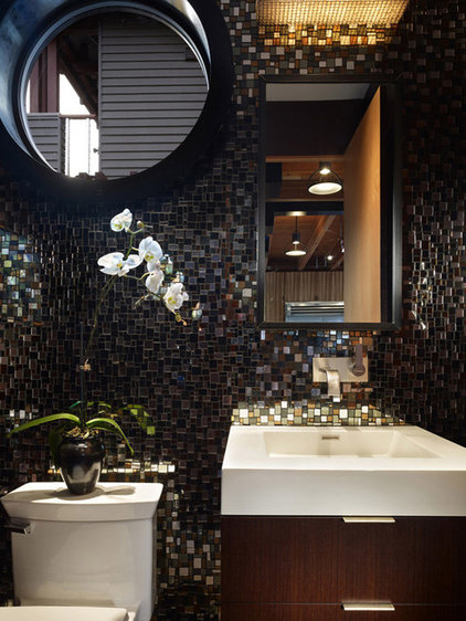 modern powder room by Dan Nelson, Designs Northwest Architects