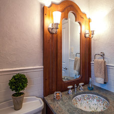 Traditional Powder Room by MGLM Architects