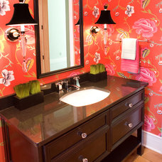 Traditional Powder Room by Barenz Builders