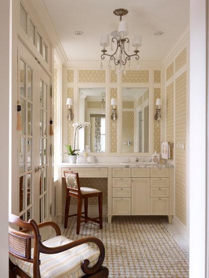 Traditional Powder Room by Tom Stringer Design Partners