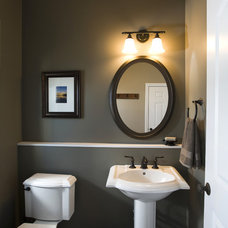 Traditional Powder Room by By Brooke, LLC